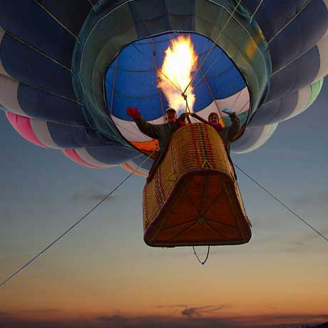 Balloon ride at Christmas in Country